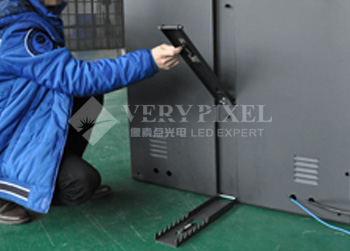 Adjustable cabinet inclining angle