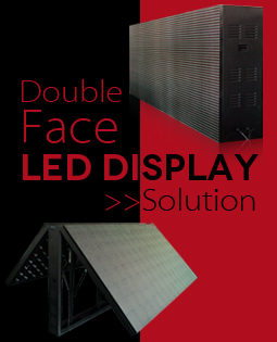 Double-sided LED billboards