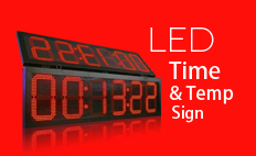 LED digital clock and temperature board