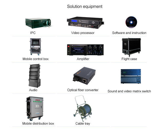 led stage video screen solution equipment