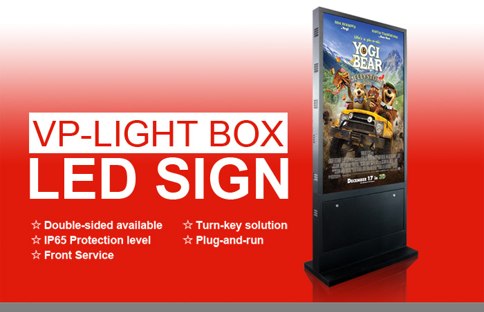 outdoor LED lightbox display