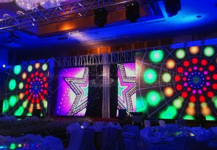 China LED mesh display manufacturer   LED stage rental display