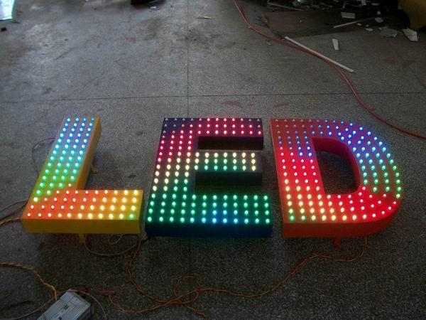 RGB LED Pixel Sign,LED Advertisement Sign