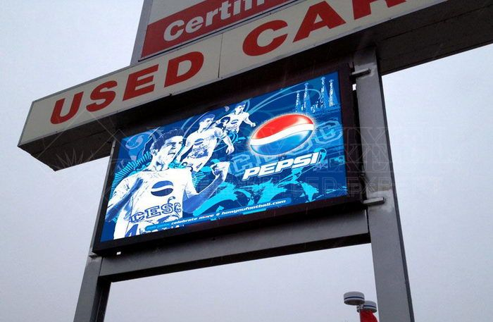 outdoor full color double face led display