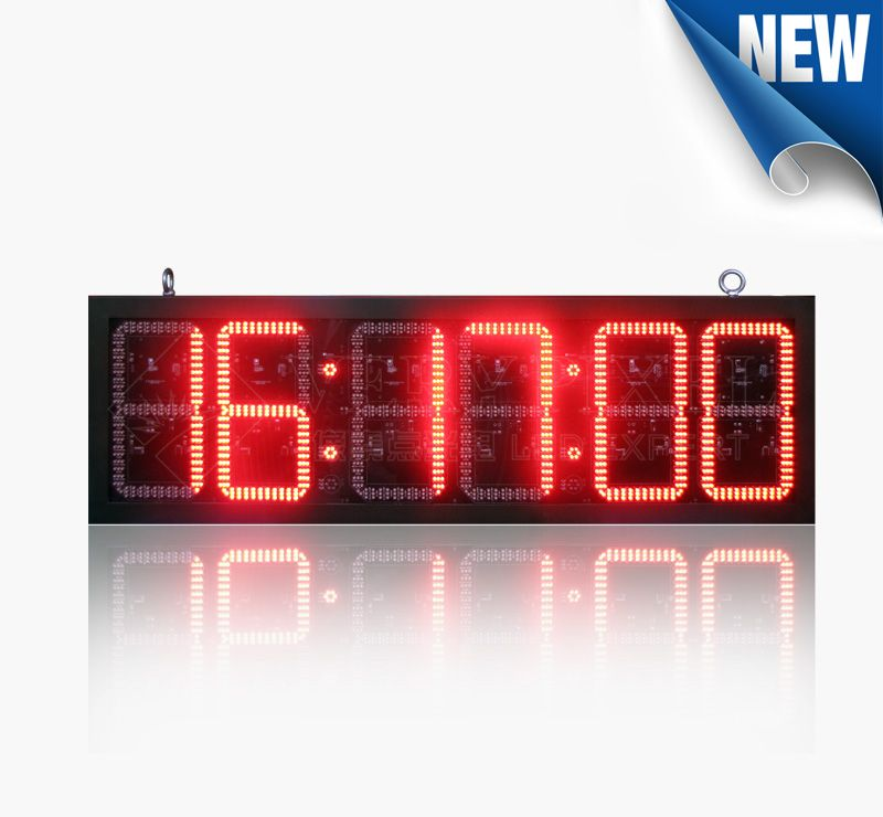 12inch Outdoor Double-Side LED Digital Clock Sign