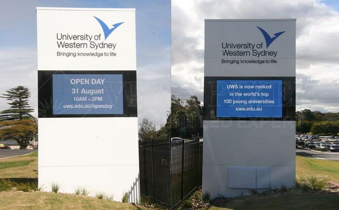 University of western sydney Front Service LED Display