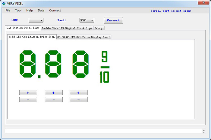 Verypixel LED gas price sign display software