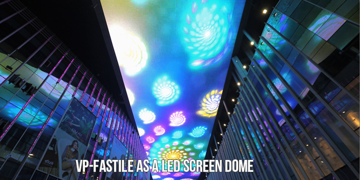 front maintenance LED screen dome