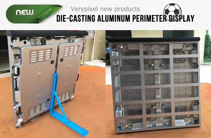 Die-casting aluminum LED perimeter display